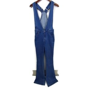 Wild Honey Denim Bib Overalls XS Flare Leg